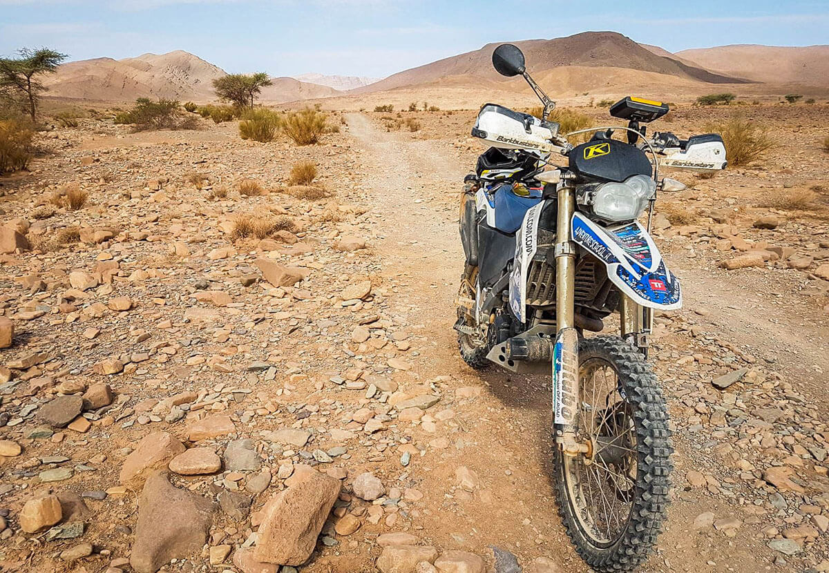 enduro off-road motorreis marokko woestijn