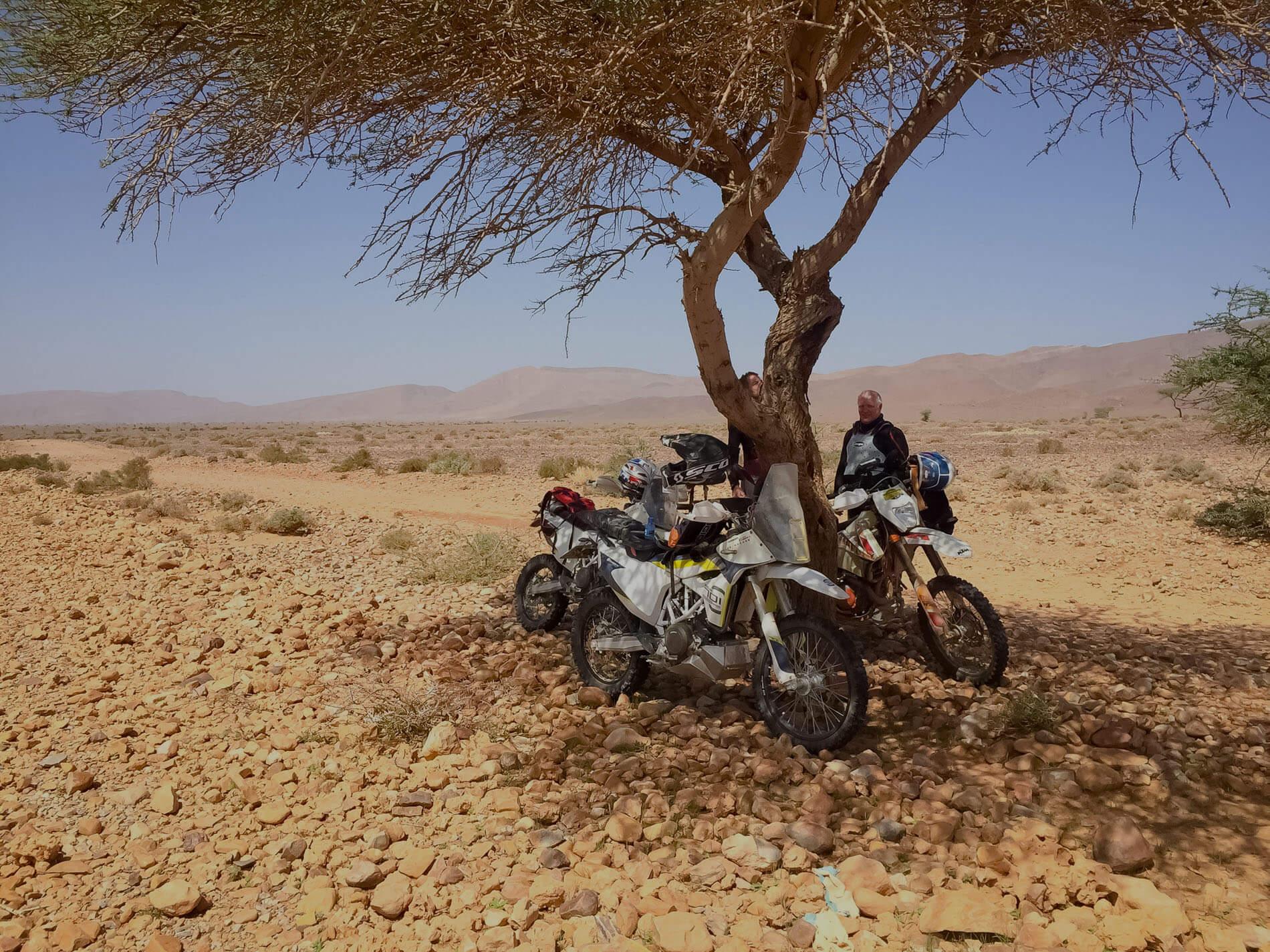 off-road enduro motorreis marokko